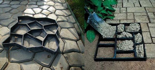 Betonplatten mit den Händen herstellen