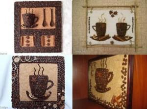 Примеры готовых Панно из кофе