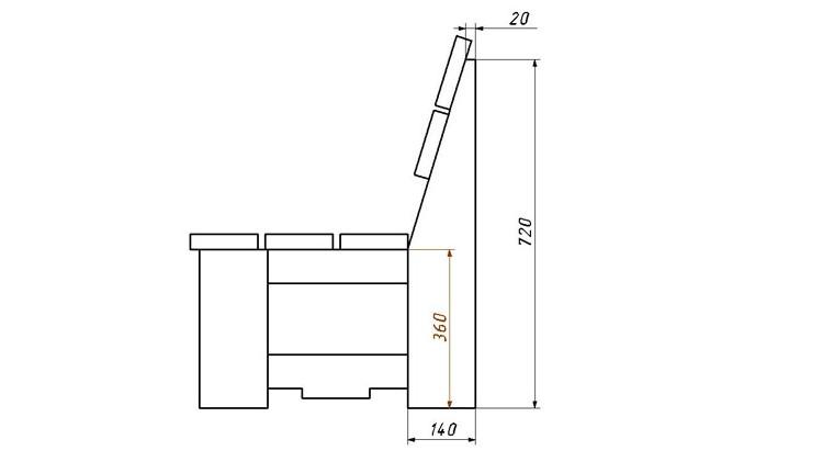скамья для дачи схема