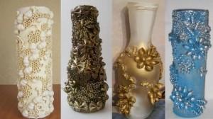 фото вариантов ваз из макарон