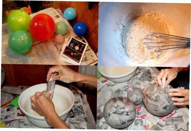 делаем макет планет солнечной системы своими руками из газет и шариков