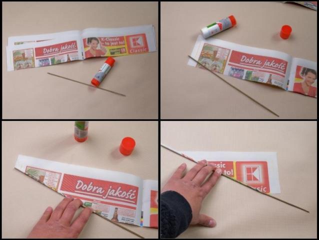 делаем бумажные палочки в веер