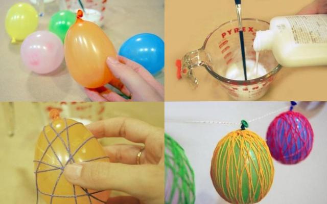 Этапы работ по изготовлению декоративного яйца.