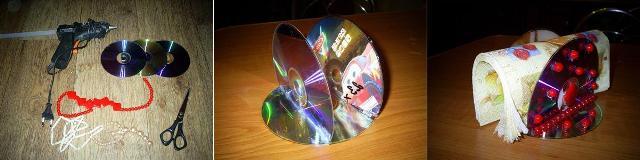 Мастер-класс салфетница из dvd дисков своими руками