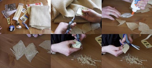 Бутоньерка – полезная поделка из мешковины своими руками