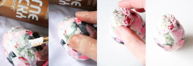 Из лоскутка можно аккуратно скрутить розочку, сшить или склеить её, а сверху приклеить бисер или бусины.