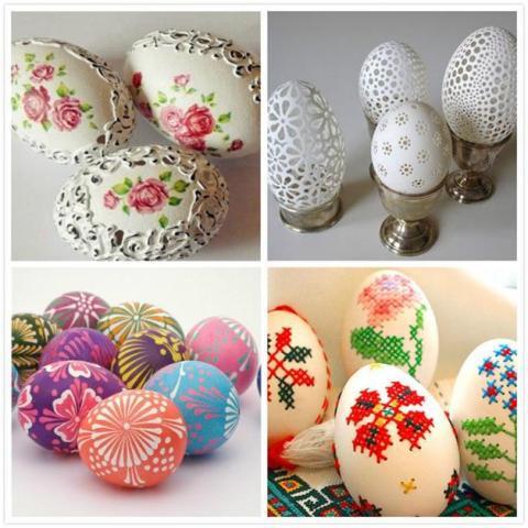 Предлагаем сделать своими руками декупаж яиц к Пасхе при помощи салфеток в стиле печворк, лоскутный декупаж и в технике пейп-арт.