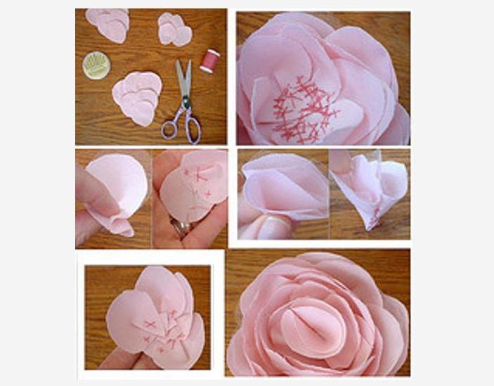 Розы из ткани своими руками