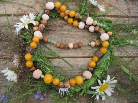Ожерелье из натурального камня и глины своими руками