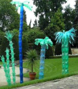 Пальма из пластиковой тары
