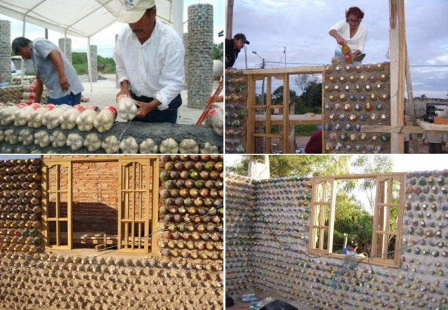Предлагаем вам в этой статье узнать, как построить дом из пластиковых бутылок