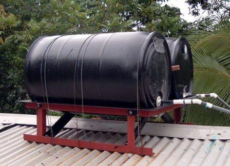 Емкости для нагрева воды  в летнем душе