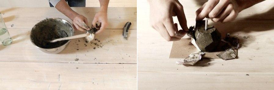 Если вы вместо воска зальёте в форму бетонную смесь