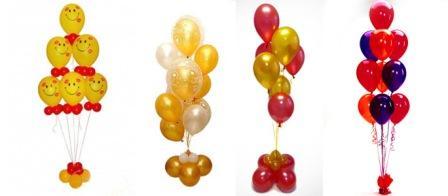 Гелиевые шарики красиво будут смотреться, если просто пустить их вверх