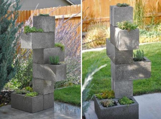 Мастер-класс вертикальная клумба для сада