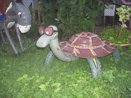 Черепаха из автошины