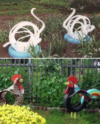 птицы из шины