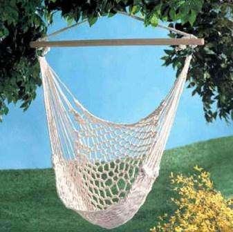 плетеное подвесное кресло своими руками