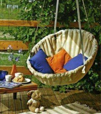 Идеи для подвесной мебели в саду