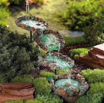 красивый водопад для дачного участка