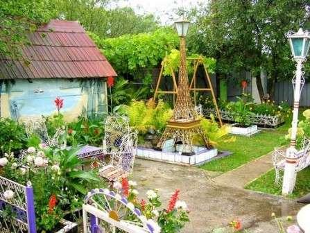 садовые скульптуры из подручных материалов