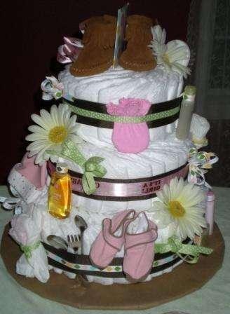 торт из памперсов своими руками пошаговая инструкция