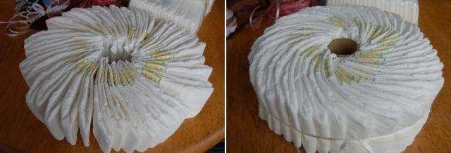 Подарочный тортик из памперсов