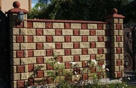 Декоративные заборы из бетонных блоков