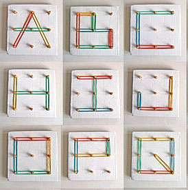 Алфавит из резинок