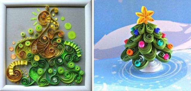 Новогодние поделки из квиллинга своими руками - это занятие не из простых, но фигуры получаются очень красивыми!