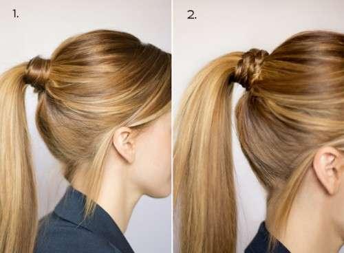 Аккуратно собрать волосы в хвост, не испортив при этом объема
