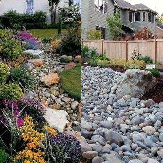 Ландшафтный дизайн, сухой ручей своими руками