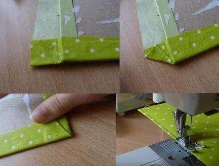 Если у вас есть швейная машинка, вы можете по обложке сделать строчку. Это повысит прочность обложки и в то же время станет оригинальным декоративным приемом.