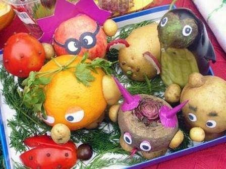Поделки из овощей в садик на осень фото