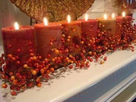 ягоды для декорации свечей