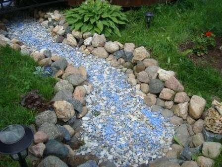 Создаем иллюзию воды гравием и камнями