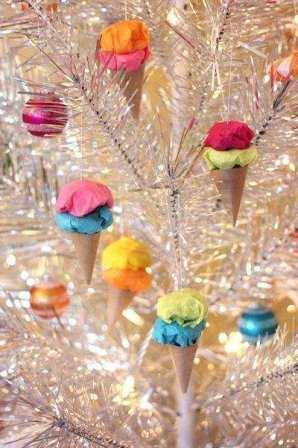 Бумажно мороженое на елку