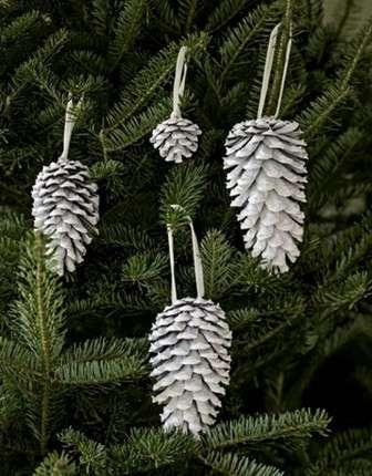 Поделки к Новому году из шишек - украшения на елку