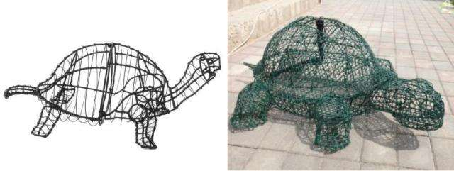 Действие 2 – создаем каркас для садовой фигуры