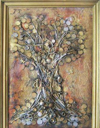 Красивое дерево станет оригинальным декором для гостиной или прихожей.
