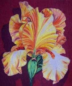 красивый цветок на картине пейп арт