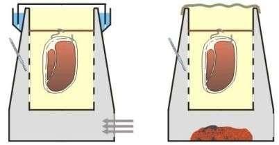 Горячая коптильня - схема копчения