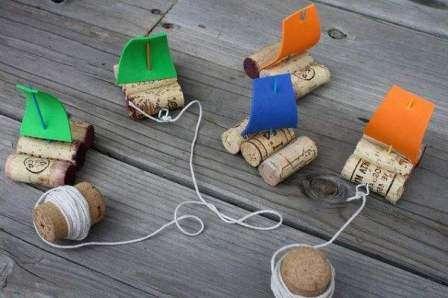 кораблик - поделка для детей