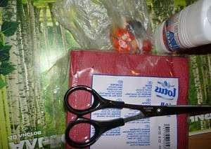 Материалы: - картон; - ножницы; - клей ПВА; - цветные салфетки; - бусинки, стразы или блестки.