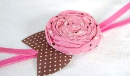 Украшения из ткани роз своими руками
