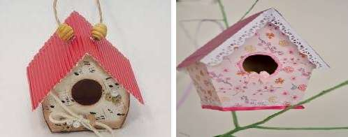 Хотя картон – недолговечный материал, из него все же можно сделать простой и красивый скворечник. Для этого не обязательно обладать навыками столяра или плотника. Картонный скворечник под силу сделать даже детям.