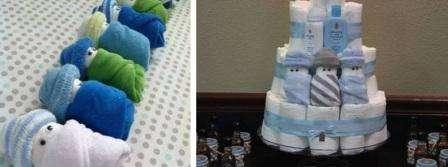 ставить этих малышей в торт можно с помощью шпажек. В качестве украшений торта можно использовать детские средства для личной гигиены.