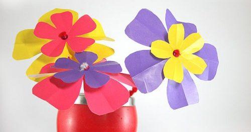 поделки для школы из цветной бумаги