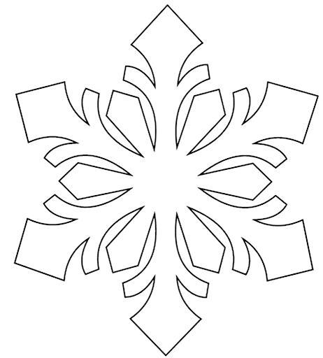 снежинка для вырезания на окно