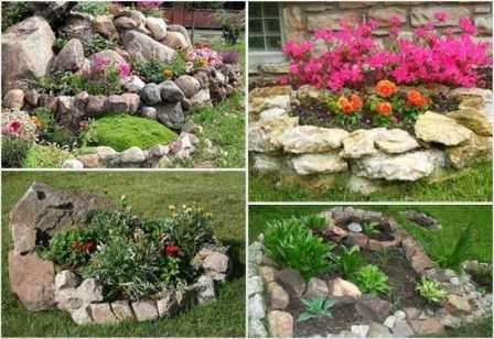 Дачные клумбы для цветов в основном делают в форме геометрических фигур: квадрат, прямоугольник, овал